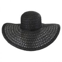 Chantilly Lace Toyo Straw Floppy Swinger Hat alternate view 2