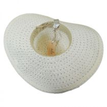 Chantilly Lace Toyo Straw Floppy Swinger Hat alternate view 4