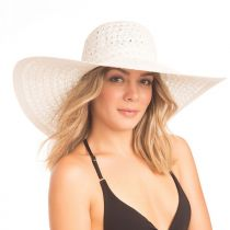 Chantilly Lace Toyo Straw Floppy Swinger Hat alternate view 10