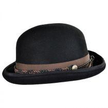Steampunk Wool Felt Bowler Hat in