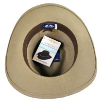 Leather Braid Band Wool Felt Aussie Hat in