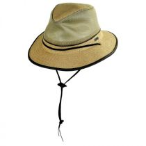 Mesh Crown Hemp Straw Safari Fedora Hat alternate view 2