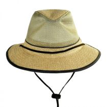 Mesh Crown Hemp Straw Safari Fedora Hat alternate view 3