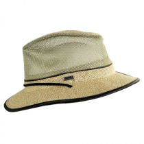 Mesh Crown Hemp Straw Safari Fedora Hat alternate view 9