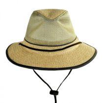 Mesh Crown Hemp Straw Safari Fedora Hat alternate view 13