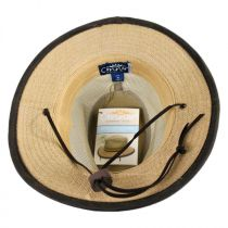 Mesh Crown Hemp Straw Safari Fedora Hat alternate view 15