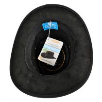 Leather Outback Hat in