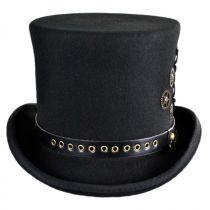 Steampunk Wool Felt Top Hat in