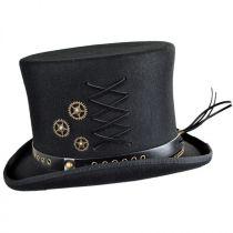 Steampunk Wool Felt Top Hat alternate view 11