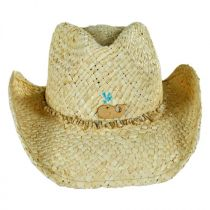 Kids' Sea Creature Raffia Straw Western Hat in