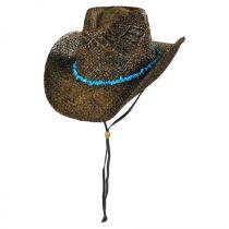 Cascade Mountain Raffia Straw Western Hat alternate view 2