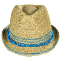Kids' Play Time Raffia Straw Fedora Hat in