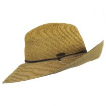 Ribbon and Toyo Straw Chincord Sun Hat in