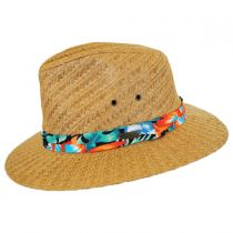 Tropical Band Toyo Straw Safari Fedora Hat in