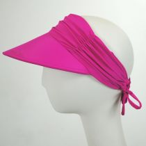 Ruched Fabric Pool Visor in