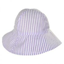 Baby Seersucker Cotton Bucket Hat in