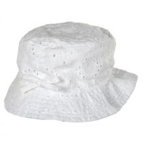 Baby Eyelet Cotton Bucket Hat in