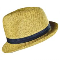 Kids' Contrasting Band Toyo Straw Fedora Hat in