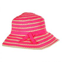 Kids' Ribbon Toyo Straw Bucket Hat in