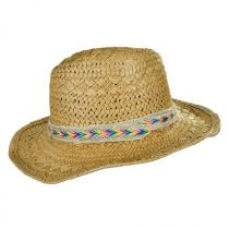 Kids' Rainbow Band Toyo Straw Cowboy Hat in