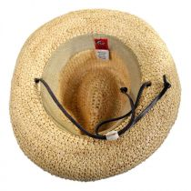 Toddlers' Chincord Raffia Straw Fedora Hat in
