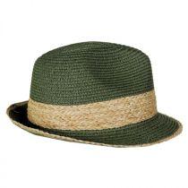 Raffia Band Toyo Straw Fedora Hat in