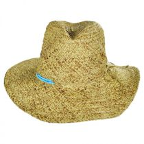 Turquoise Beaded Toyo Straw Fedora Hat alternate view 2