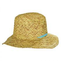 Turquoise Beaded Toyo Straw Fedora Hat alternate view 3
