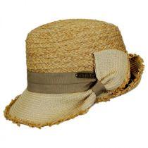 Safari Straw Fedora Cloche Hat in
