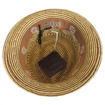 Panama Striped Straw Fedora Hat in