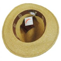 Knotted Band Straw Safari Fedora Hat in