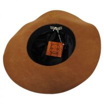 Bead Trim Wool Felt Floppy Hat in