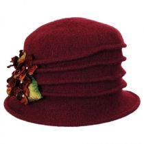 Autumn Wool Felt Cloche Hat in