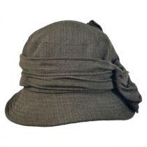 Herringbone Crushable Cloche Hat in