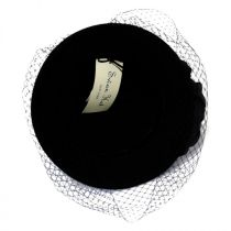 'Cashmere' Veil Cloche Hat in