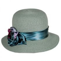 Pansy Packable Toyo Straw Cloche Hat in