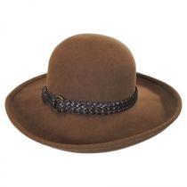 Belted Wool Felt Boater Hat in