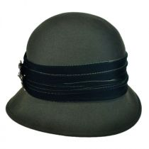 Brooche Wool Felt Cloche Hat in