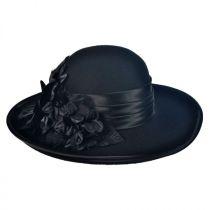 Low Crown Wool Felt Lampshade Hat in