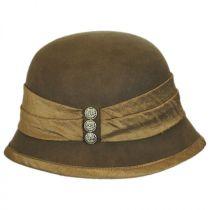 Silk Trim Packable Wool Felt Cloche Hat alternate view 3