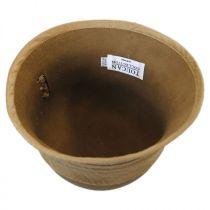 Silk Trim Packable Wool Felt Cloche Hat alternate view 4