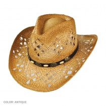 Annie Oakley Raffia Straw Western Hat alternate view 3
