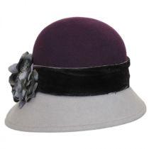 Petal Two-Tone Wool Felt Cloche Hat alternate view 2