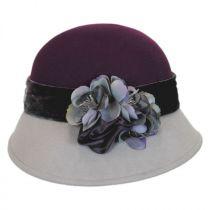 Petal Two-Tone Wool Felt Cloche Hat in