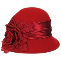 Side Rose Wool Felt Cloche Hat alternate view 4