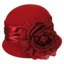 Side Rose Wool Felt Cloche Hat alternate view 5