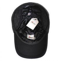 Herringbone Wool Earflap Baseball Cap in