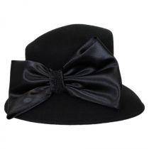 Satin Bow Slant Wool Felt Downbrim Hat alternate view 3