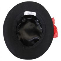 Rose Veil Coachman Wool Felt Top Hat in