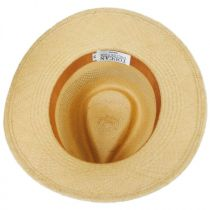 Vented Panama Straw Fedora Hat in